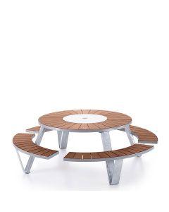 Pantagruel Table - Galvanized/Iroko