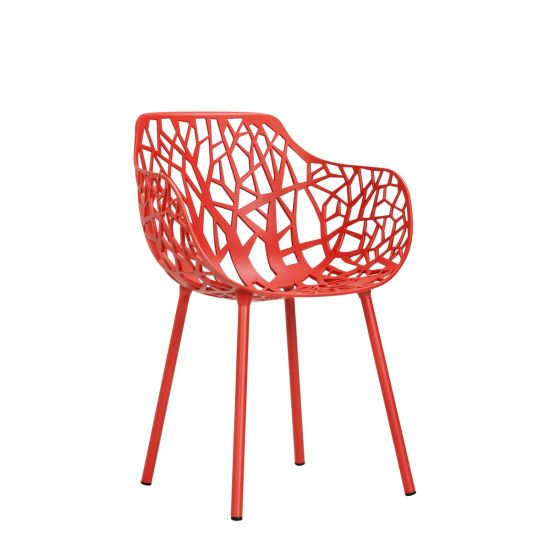 Forest Armchair   Coral Red