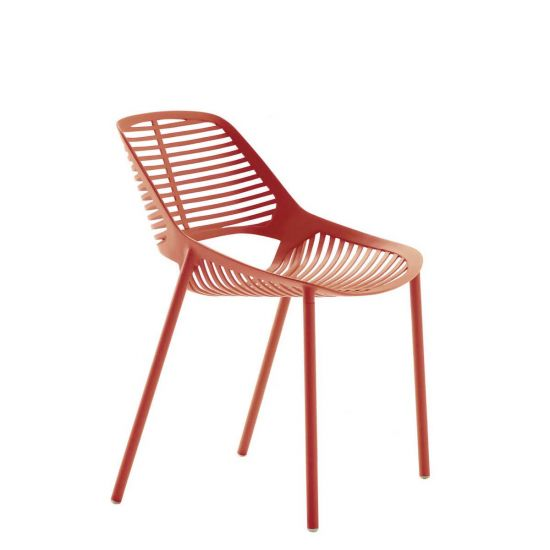 Niwa Side Chair   Coral Red