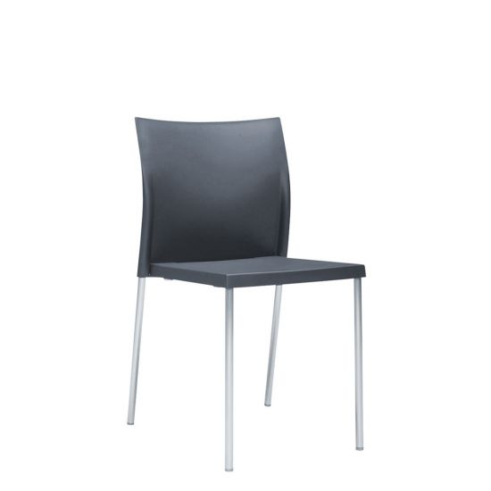 Charmant Bikini Side Chair Interior Fire Retardant   Medium Grey