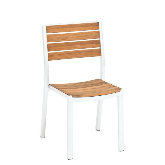 About A Chair 12 Side Chair.Alu Side Chair White Teak Side Chairs Janus Et Cie