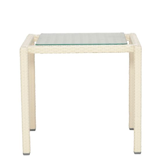 Niche Side Table   Limestone