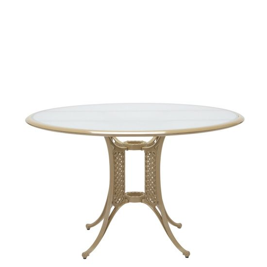 La Palma Round Table 120   Sanded/Toffee