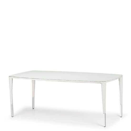 Slim Line Dining Table Rectangle 200   Chalk