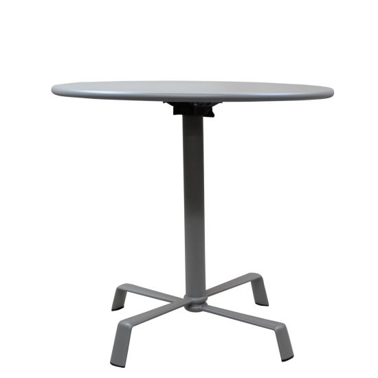 Elica Dining Table Round 78 With Flip Top Silver