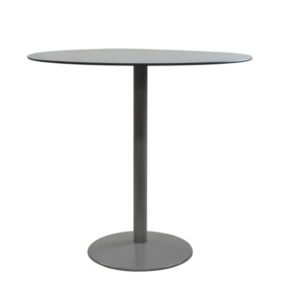 Tonda Bar Table Round 119   Silver/Grey