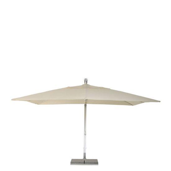 J Cantilever Umbrella Rectangle 400 Natural Front View