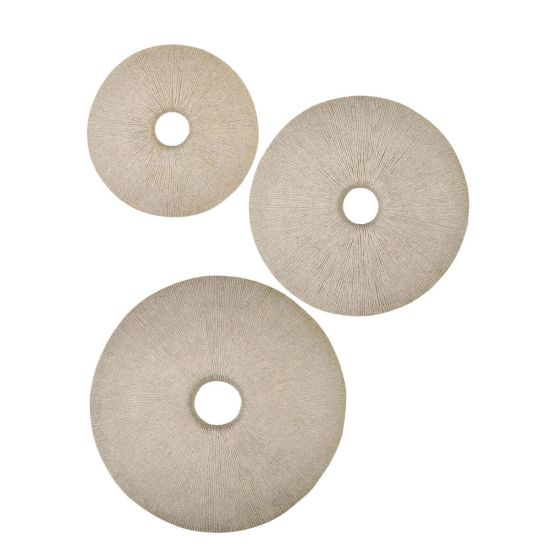 sand dollar sandstone wall deco decorative objects janus et cie