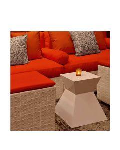 Ditto Aluminum Side Table/Stool - Polaris White