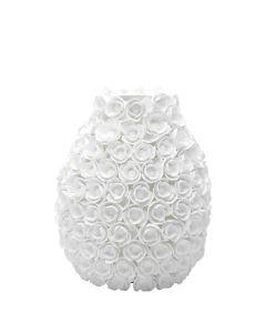 Britannia Poppy Vase - White