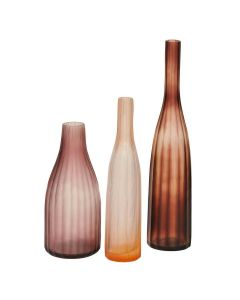 ARTISAN HARMONY BOTTLES SET OF 3 - LILAC/PEACH