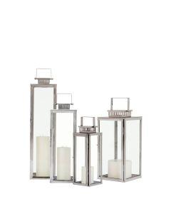 Waitsfield Lantern - Polished Steel