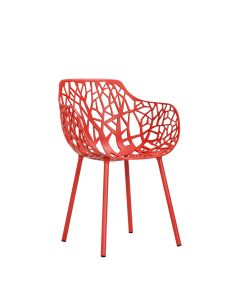 Forest Armchair - Coral Red