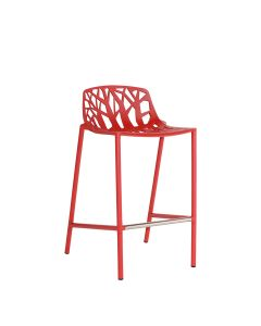 Forest Low Back Counter Stool - Red