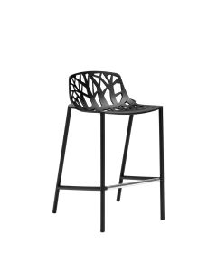 Forest Low Back Counter Stool - Black