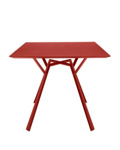 Radice Dining Table Square 90 - Coral Red