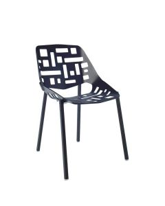 TWIN SIDE CHAIR - BLACK