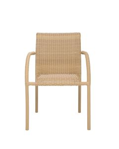 Viola Square Back Armchair - Natural