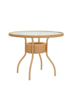 VIOLA DINING TABLE ROUND 91 WITH UMBRELLA HOLE - NATURAL