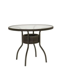 VIOLA DINING TABLE ROUND 91 WITH UMBRELLA HOLE - JAVA