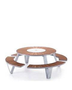 Pantagruel Table - Galvanized/Iroko