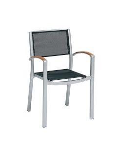 Alu Armchair - White/Black Mesh