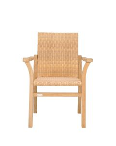 SOLID WOVEN ARMCHAIR