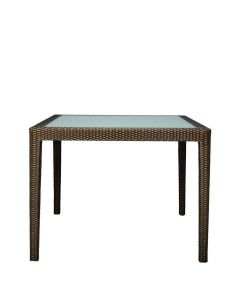 Quinta Fully Woven Dining Table Square 100 - Bronze