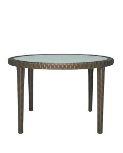 Quinta Fully Woven Dining Table Round - Bronze