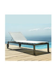 Natal Light Chaise Lounge - White Mesh