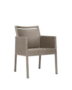 Niche Fully Woven Armchair - Palladium Twill