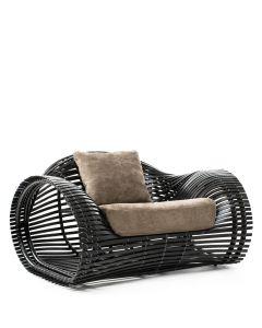 Lolah Lounge Armchair Interior - Wenge