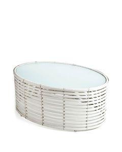 Lolah Side Table Oval Medium Interior - Bleach