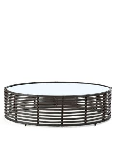 Lolah Straight Cocktail Table Round Interior - Wenge