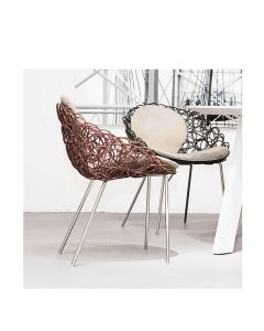 Noodle Armchair Interior - Cherry