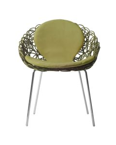 Noodle Armchair Interior - Light Green