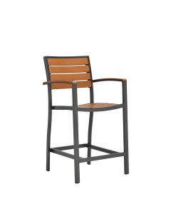 Tate Counter Stool - Bronze/Cognac