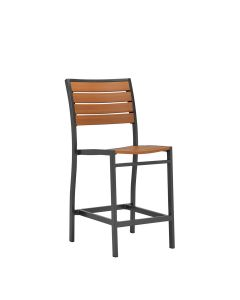 Tate Counter Stool Armless - Bronze/Cognac