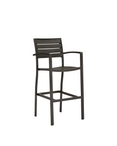 Tate Barstool - Bronze/Coffee