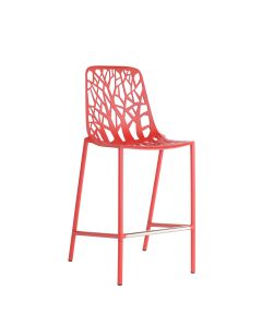 Forest High Back Counter Stool - Red