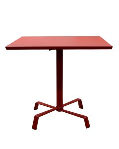 Elica Flip Top Dining Table Square 78 - Red