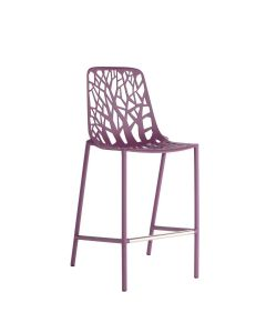 Forest High Back Counter Stool - Plum
