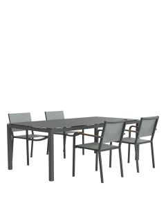 Avenue 5 Piece Dining Set Rectangle - Graphite