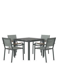 Avenue 5 Piece Dining Set Square - Graphite