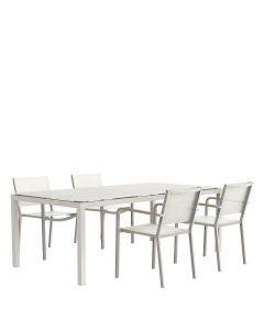 Avenue 5 Piece Dining Set Rectangle - Talc