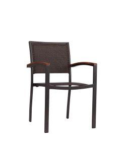 Koko Mesh Armchair - Bronze/Brown-Black