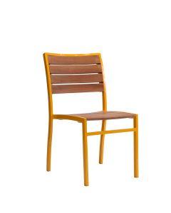 Koko II Teak Side Chair - Yellow