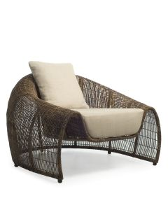Croissant Lounge Chair Interior - Coffee