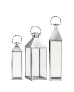 Montpelier Lantern  - Polished Steel