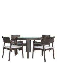 Niche JANUSfiber 5 Piece Dining Set - Bronze